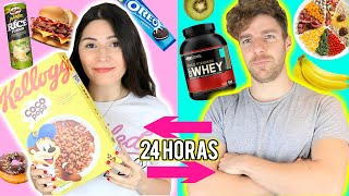 I swapped DIETS with my BOYFRIEND for 24hours!!