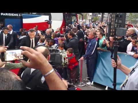 Arrivée des joueurs du PSG (vs Monaco 22/09/2013)