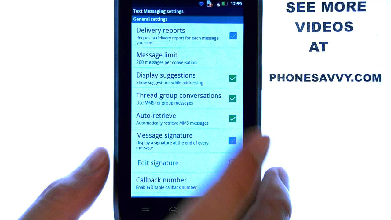 Motorola Droid 4: How Do I Add A Signature To Text Messages?
