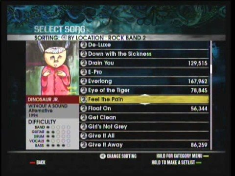 Rock band 2 full setlist (part 1)