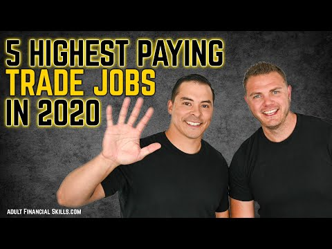 5 Highest Paying Trade Jobs 2020