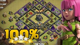 CB LaLoon TH9 vs TH9 100% 3 estrellas | Clash of Clans
