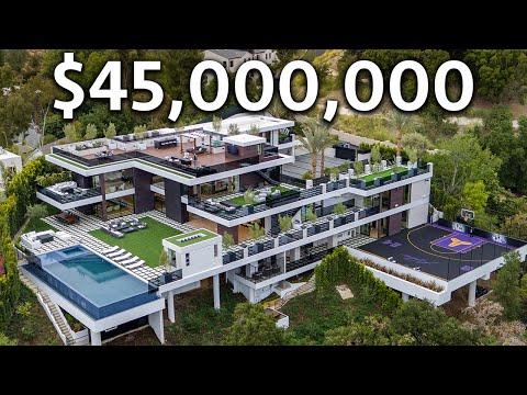 Inside a $45,000,000 Los Angeles Modern MEGA MANSION