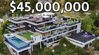 Внутри мега-особняка в Лос-Анджелесе за 45 миллионов долларов, полного развлекательных пространств