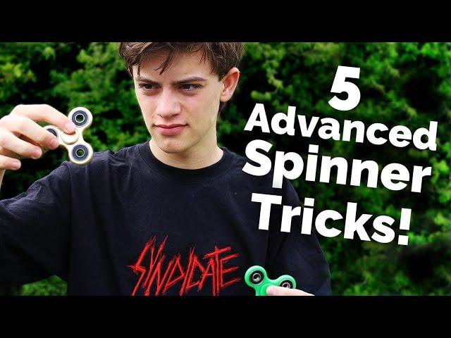 5 ADVANCED FIDGET SPINNER TRICKS