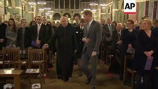 Prince Harry attends London Fire Brigade carol service