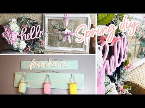 NEW!! 3 SPRING DIY UNDER $20 |  FARMHOUSE SPRING DIY  | SPRING WREATH | WINDOW PANE | FARMHOUSE SIGN