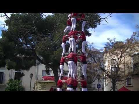Castellers de Barcelona: 5D7 FEMENÍ DESCARREGAT (Diada de dones 2020)