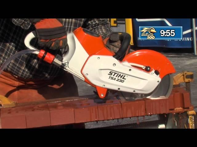 STIHL TSA 230 DEMONSTRATION AT THE 2015 SPEC MIX BRICKLAYER 500® WORLD CHAMPIONSHIP
