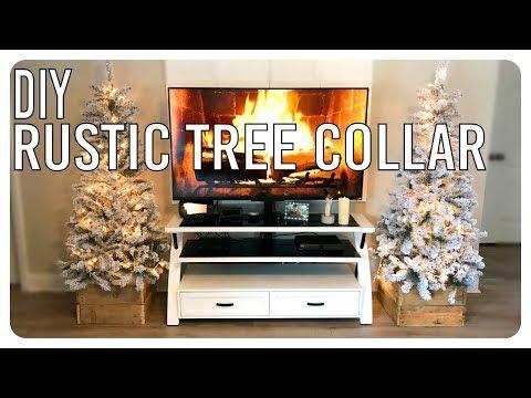 Rustic Christmas Tree Collar