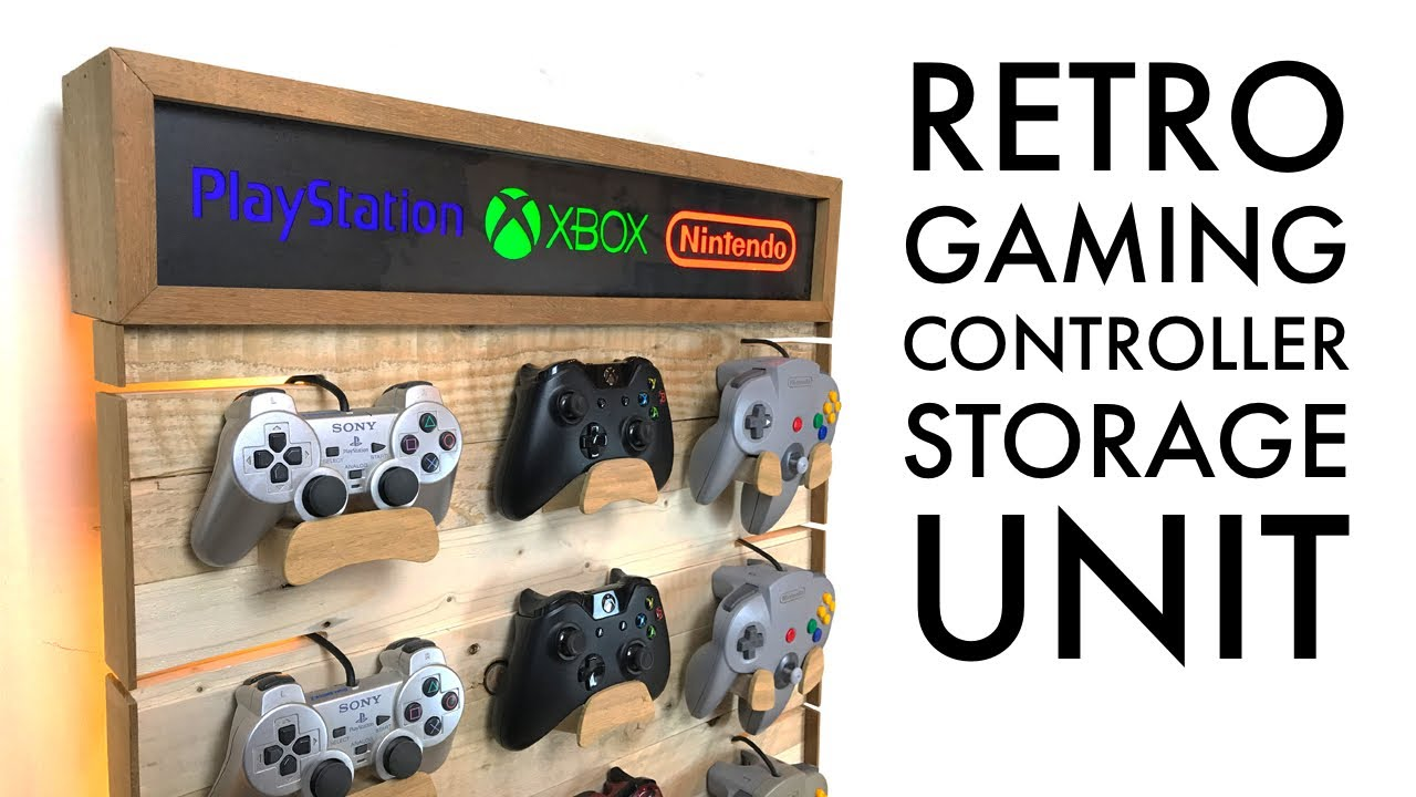 DIY Video Game Controllers Storage Rack – Pallet Wood Project