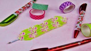 Basteln Kugelschreiber Feder Diy Idee Stift Verschönern Washi Tape