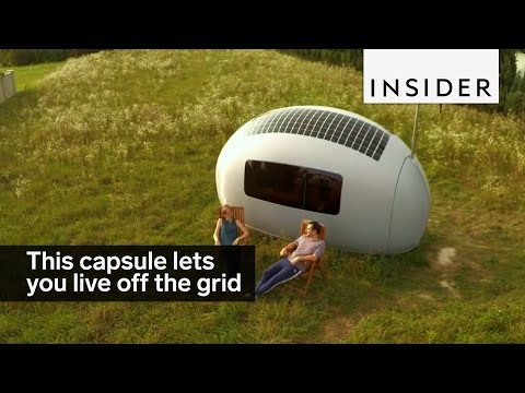 This egg-shaped capsule lets you live entirely off the grid