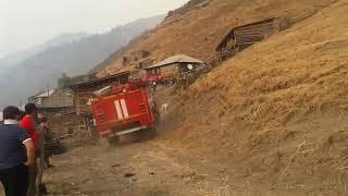 Пожар в с.Гарбутли МЧС не смогли потушить пожар