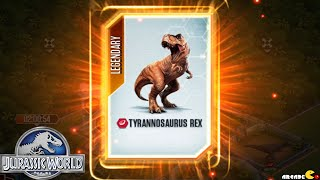 Jurassic World The Game - SUPER RARE LEGENDARY TYRANNOSAURUS REX !