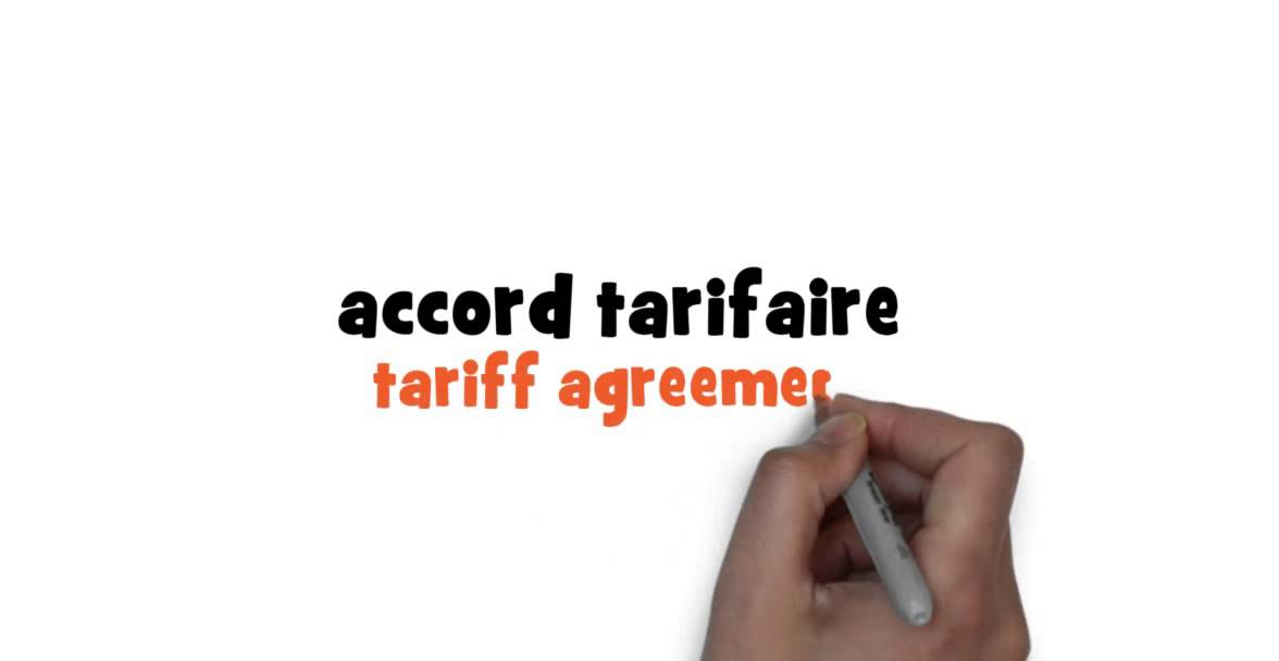 How To Write Tariff Agreement In French Youtube