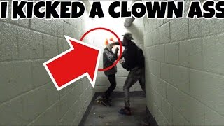 CLOWN HUNTING ON HALLOWEEN * I KICKED A CLOWN ASS!!*