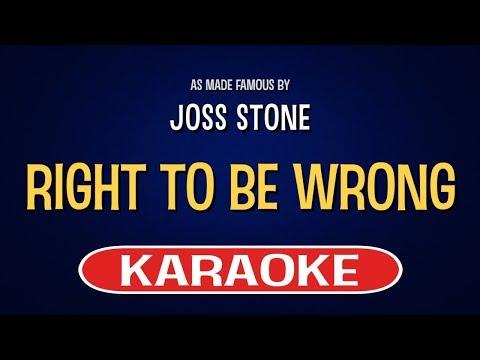 Right To Be Wrong - Joss Stone | Karaoke LYRICS