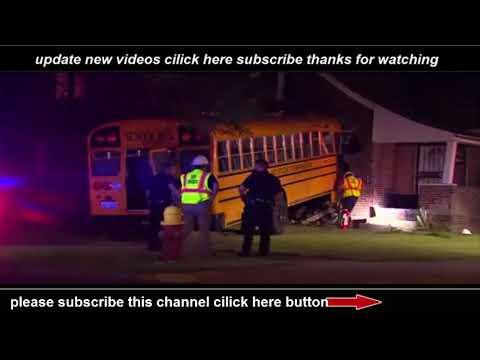 Detroit mich School bus crashes into home