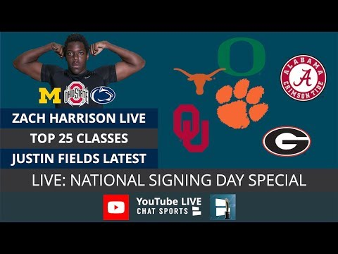 National Signing Day 2019: Top 25 Classes, Zach Harrison Signing Live, Justin Fields Transfer Rumors