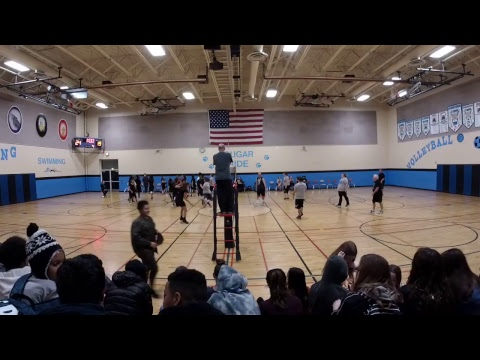 First Annual Staff/Student Volleyball Game Jan 2018