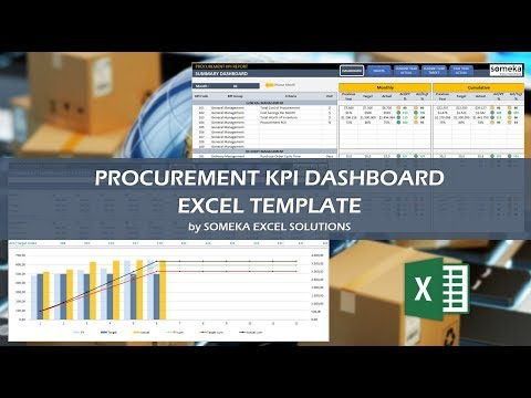 Procurement KPI Dashboard | Excel Procurement Template