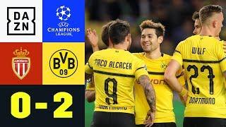 Raphael Guerreiro trifft doppelt für BVB: Monaco - Dortmund 0:2 | UEFA Champions League | Highlights