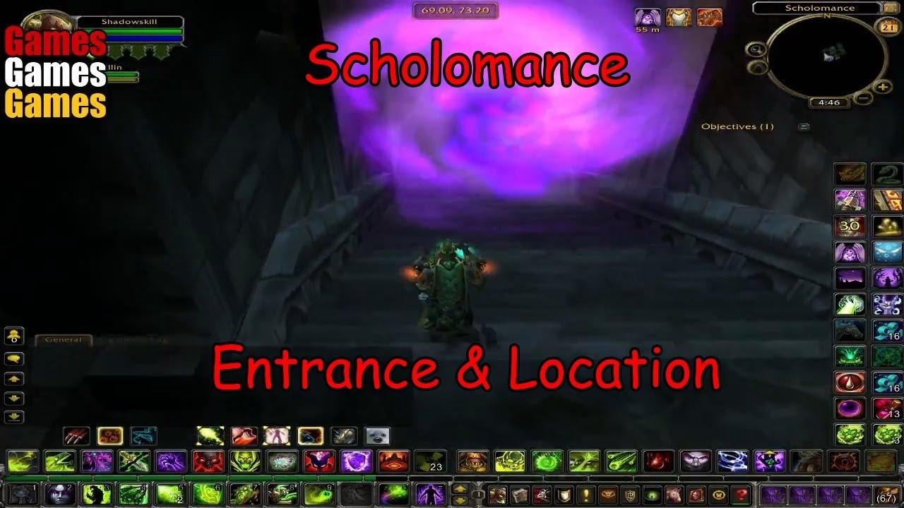 scholomance entrance location world of warcraft original dungeons youtube. Black Bedroom Furniture Sets. Home Design Ideas