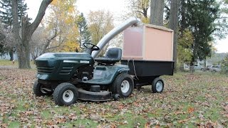Home Made Lawn Mower Leaf Collector