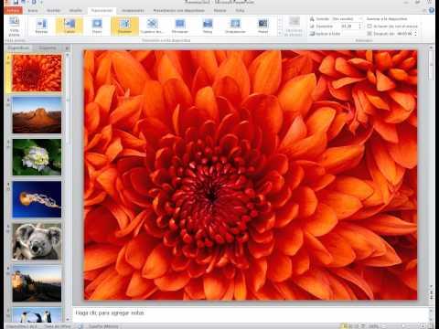 Crear video con audio usando PowerPoint 2010