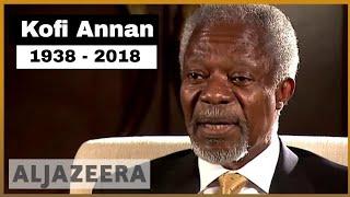 🇺🇳 Kofi Annan, former UN chief, dies at 80 | Al Jazeera English