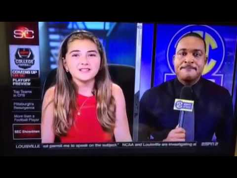 Chesney McMurphy on ESPN SportsCenter with Linda Cohn & Andre Ware - Oct. 24, 2015