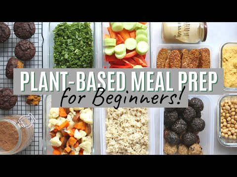 PLANT-BASED MEAL PREP for Beginners + Free PDF! Tasty Recipes & Ideas