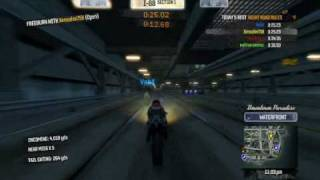 Burnout Paradise Fast Bikes on highway