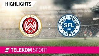 SV Wehen Wiesbaden - Sportfreunde Lotte | Spieltag 17, 18/19 | Telekom Sport