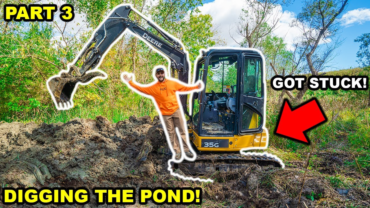 Building a GIANT 2 ACRE POND in My BACKYARD!!! (Part 3)