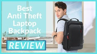 Anti Theft Laptop Backpack   Bopai Intelligent Business Travel Laptop leather Backpack For Men