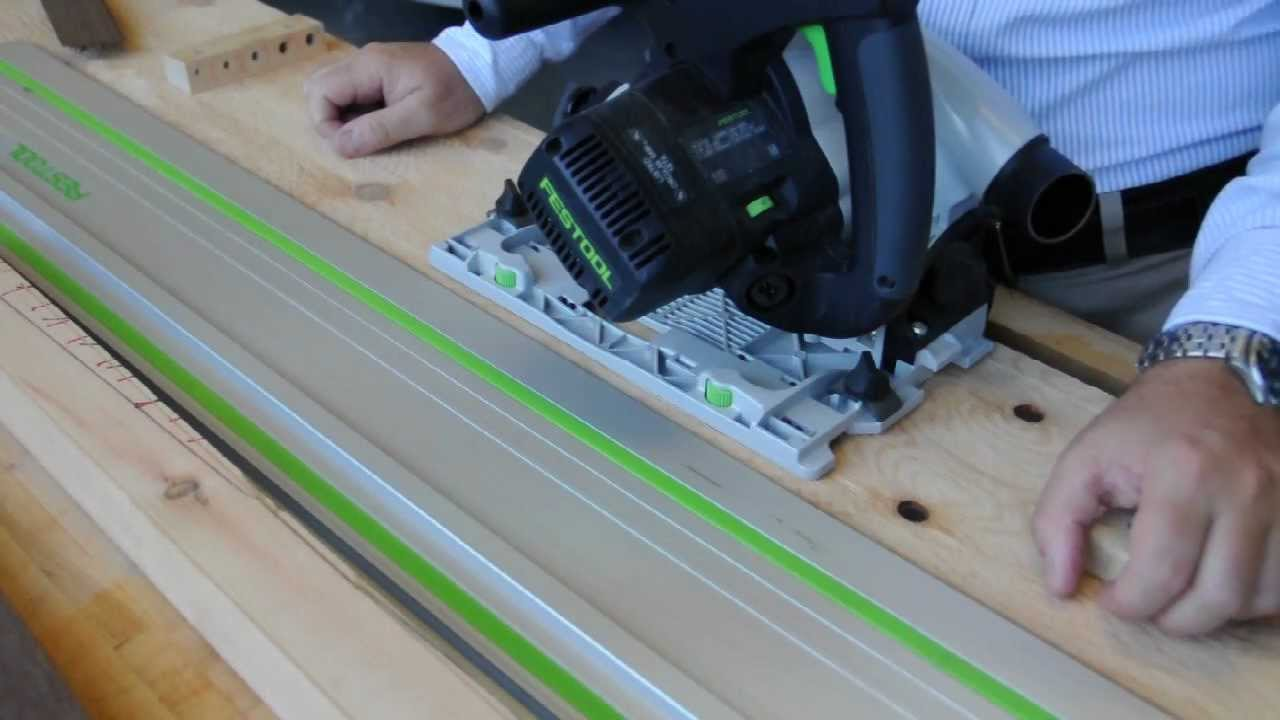 Cutting tapered legs with the Festool TS55 tracksaw - YouTube