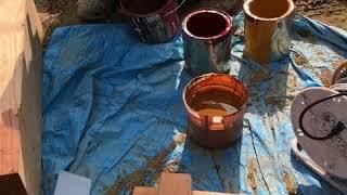 施述室内の木部塗装色の打合せ04 みやび鍼灸接骨院 thumbnail