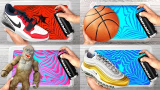 BEST of HYDRO DIPPING (SaTisFyiNg) Customizing NIKE Shoes and more!