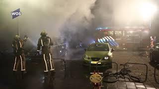Taxibusje uitgebrand in Kwintsheul