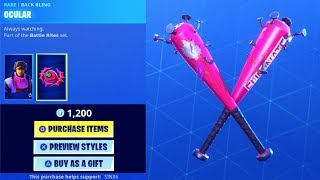 *NEW* SKINS + Double BAT Pickaxe..! (Item shop Showcase) Fortnite Battle Royale