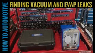 How to Find Vacuum and Evap Leaks with a Smoke Machine