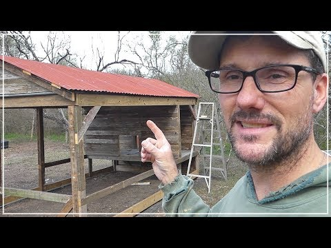 The Red Metal Roof! - Building Chicken Coop from Dog Kennel