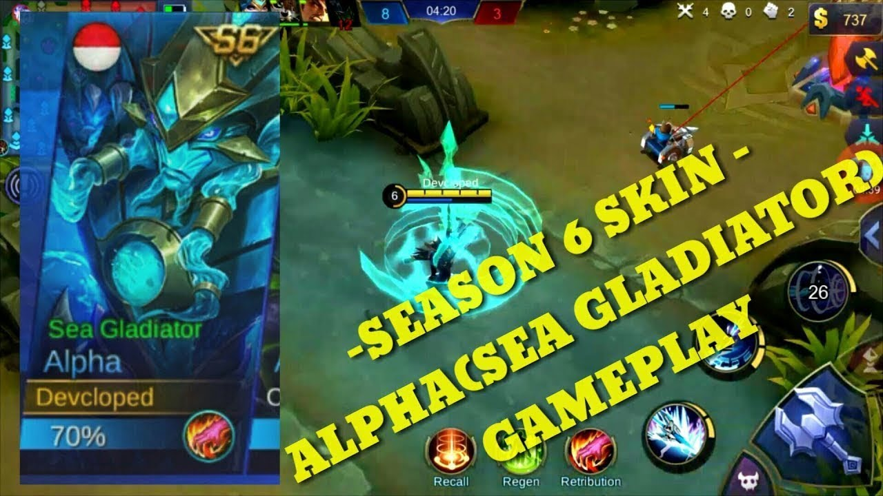 FIRST EVER ALPHA SEA GLADIATOR GAMEPLAY (Mobile Legends) - YouTube