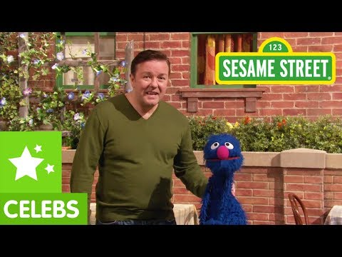 Sesame Street: Ricky Gervais Stumbles