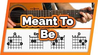 Meant To Be Easy Chords Guitar Tutorial / Lesson - Bebe Rexha ft Florida Georgia Line