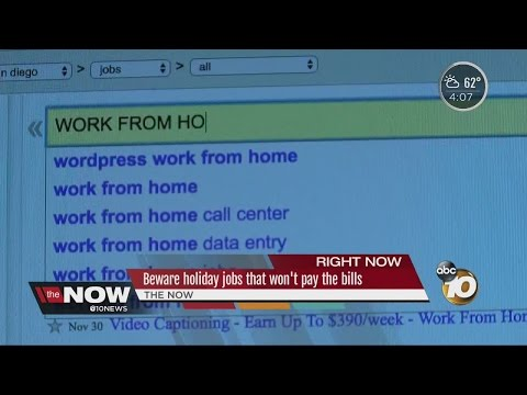 Job seekers being warned of work-at-home scams