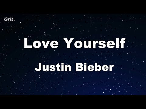 Love Yourself - Justin Bieber Karaoke 【With Guide Melody】 Instrumental