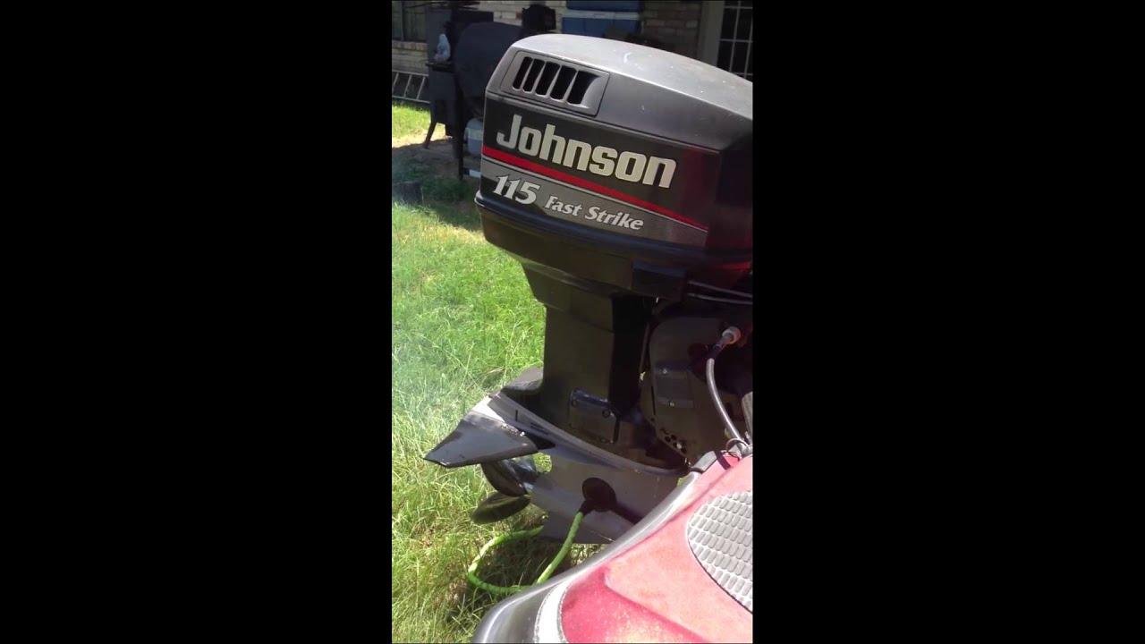 1997 Johnson Fast Strike 115 Youtube
